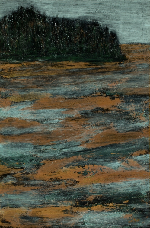 Embedded Memory; acrylic on canvas, 36x24, photo by Gary Lowell
