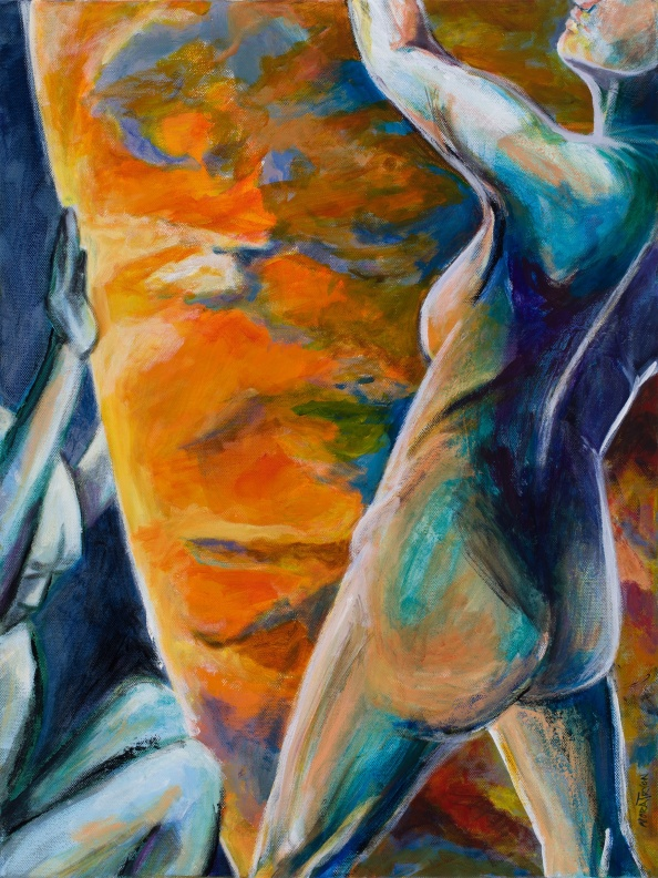 Too Hot to Handle; acrylic on canvas, 24x18, photo by Gary Lowell