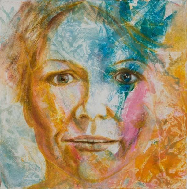 Crystal Clear; acrylic on canvas, 10x10, photo by Gary Lowell