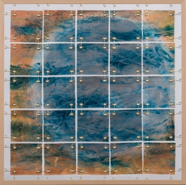 Planetary Divisions; mixed media, 29x29, photo by Gary Lowell